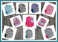Personalized Chevron Backpack  Monogrammed by DesignsbyDaffy, $27.95