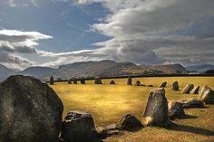 The stone circle at Castlerigg (alt. The Beautiful Country, Beautiful Places, Places To Travel, Places To See, Cairns, Statues, Ancient Ruins, Cumbria, Lake District