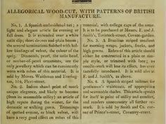 """Patterns of British Manufacture."" November 1810."
