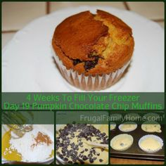 4 Weeks To Fill Your Freezer Day 19 Pumpkin Chocolate Chip Muffins