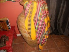 Precolumbian Cultures Yellow Blanket Style – Aspenandes $32.00