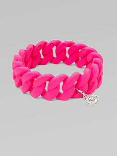 Marc by Marc Jacobs - Rubber Wrapped Structural Chain Link Bangle Bracelet from Saks at 150 WORTH.