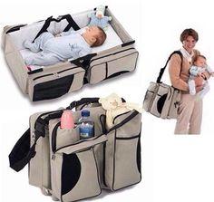3 In 1 Multi Purpose Diaper Travel  Bassinet Change Station Baby Tote Bag Bed   eBay