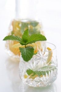 Mojito Agua    2 Tbsp Lime juice fresh squeezed or bottled  1 tsp agave nectar/honey or 1/2 dropper liquid stevia  2 crushed mint leaves  Ice  Water
