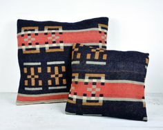 Vintage Pair of Beacon Blanket Pillows from havenvintage $88.00