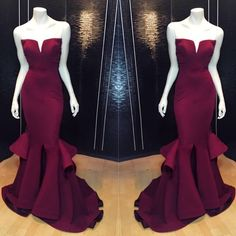 Sexy Prom Gown,2016 Prom Dress,Mermaid Prom Gown,Unique Prom Gown,Pretty Prom Gown,Satin Prom Gown,Long Prom Gown HG202