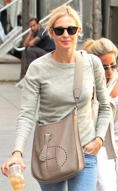 Kelly Rutherford, celebrity, fashion, style, casual, Hermes Evelyne, chic