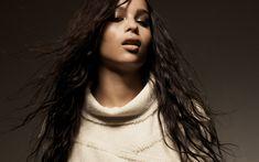 Download wallpapers Zoe Kravitz, 4k, American actress, make-up, photoshoot, beige dress, beautiful woman