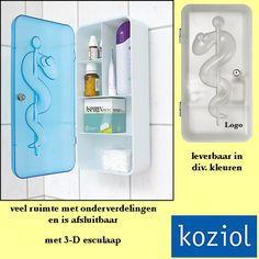 100x Koziol DR.K medicijnkastje relatiegeschenken als kunst in uw huis