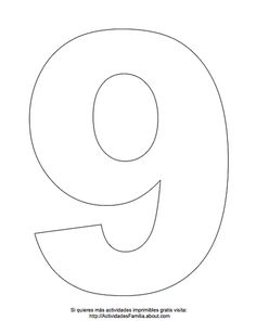 Dibujos de números para colorear: Número 9 para colorear