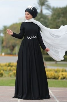 24aab0cccb144 14 Best dress images | Hijab outfit, Hijab styles, Curve prom dresses
