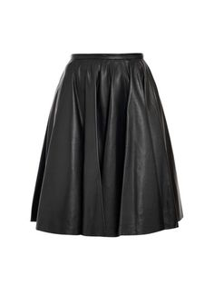 McQ Alexander McQueen Leather Skirt | http://www.oliviapalermo.com/how-to-rock-the-skater-skirt/