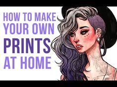 Video explaining how to make your own prints at home, includes info on scan settings and print settings