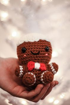 Learn how to get started with amigurumi by creating your own crochet Christmas gingerbread man cookie! Create your own cute little basic body for a do… – Amigurumi Model listing Holiday Crochet Patterns, Crochet Amigurumi Free Patterns, Easy Crochet Patterns, Crochet Dolls, Free Crochet, Crochet Ideas To Sell, Crochet Angels, Crochet Christmas Decorations, Crochet Decoration