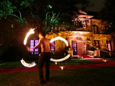 Fire performers greet guests upon arrival at this haute Halloween party at a private residence | DFW Events | Jason Kindig Photography