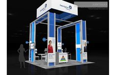 Ameriprise 20x20 Trade Show Exhibit Rental - Check EXHIBITMAX Custom Exhibits, if your needs require a custom designed and built trade show booth