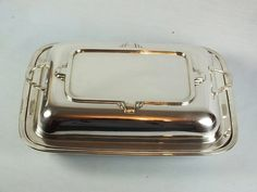Antique+Silver+Plated+Entree+Dish++Art+Deco+Design+by+Rhodons,+£37,00