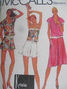 See Sally Sew-Patterns For Less - Camisole Culottes Shorts Top Vintage McCall's 7099 Pattern Sz. 12, $9.00 (http://stores.seesallysew.com/camisole-culottes-shorts-top-vintage-mccalls-7099-pattern-sz-12/)