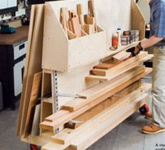 34 Best Lumber Storage Images On Pinterest Organizers Woodworking