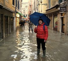 """Venice in the """"off season"""" can be wonderful....but also rainy!  Don't forget to pack your rain boots!"""