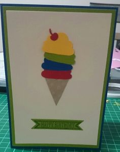 Stampin Up Cupcake Builder punch, Sketched Birthday and Bitty Banner framelits.