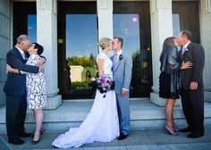 His Parents, Her Parents, And The Bride And Groom. So Sweet!!! #Relationships #Trusper #Tip