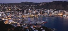 Aerial view of Wellington, New Zealand. Wellington is the capital city and second most populous urban area of New Zealand. It is at the southwestern tip of the North Island, between Cook Strait and the Rimutaka Range. Capital Of New Zealand, New Zealand Cities, New Zealand North, New Zealand Travel, The Places Youll Go, Places To See, Places To Travel, Travel Destinations, Wellington New Zealand
