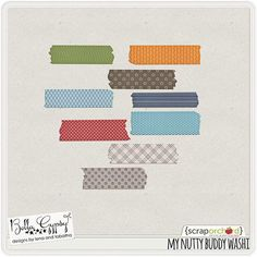 And awesome Washi tape freebie from Bella Gypsy Designs (from their My Nutty Buddy collection).  Soooooo awesome!
