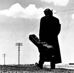 Johnny Cash in Silhouette