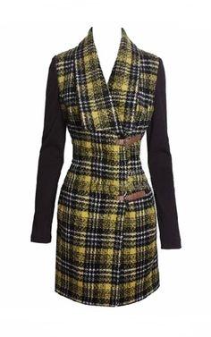 Karen Millen Soft striped fashion coat dress