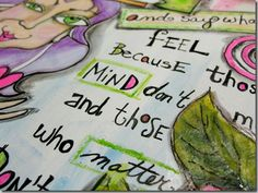 """""""Be who you are"""" Art Journal page"""
