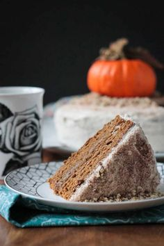 Chai Spiced Pumpkin Layer Cake ~ Veggie Inspired