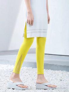 Mesh Paneled Cotton-blend Leggings