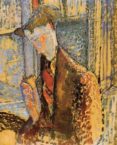 Portrait of Frank Burty Haviland (Date: Paris, France) by Amedeo Modigliani Born: 12 July Livorno, Italy Died: 24 January Paris, France Location: Los Angeles County Museum of Art. Amedeo Modigliani, Modigliani Paintings, Italian Painters, Italian Artist, Karl Schmidt Rottluff, Art Moderne, Sculpture, Kandinsky, Famous Artists