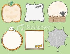 Halloween Frames Royalty Free Stock Vector Art Illustration