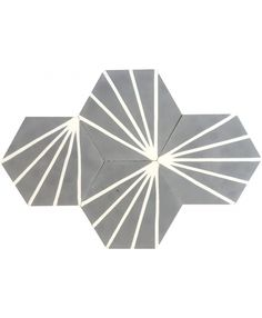 Hexagonal Graphic Cement Tiles