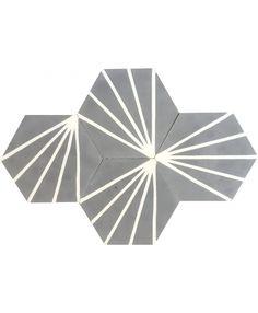 Hexagonal Graphic Cement Tiles