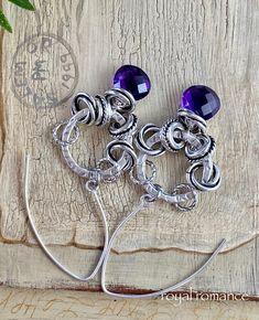 earrings, hoop earrings, African amethyst earrings, amethyst jewelry, bohemian earrings, boho chic earrings, amethyst, gift for her, for her by soulfuledges on Etsy Amethyst Jewelry, Amethyst Earrings, Xmas Gifts For Her, Bohemian Bracelets, Earrings Handmade, Boho Chic, Hoop Earrings, African, Etsy