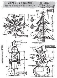 New Tim Holtz - Stampers Anonymous - Christmas Blueprint