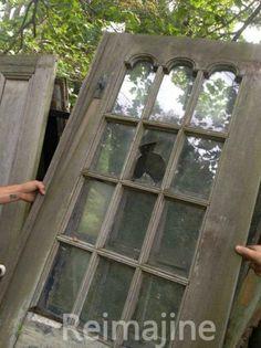 REPURPOSED DOORS INTO A KING SIZE HEADOARD