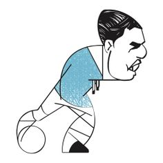Great illustration about the greatest football players