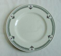 VINTAGE SHENANGO CHINA Dinner Plate Anchor Hocking New Castle Roses Gingham  #ShenangoChinaAnchorHockingNewCastlePA