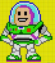 Buzz Lightyear Toy Story perler bead pattern
