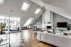 Exclusive Attic Apartment Style In Stockholm | Decorazilla Design Blog