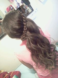 This braid is so cute. Goes perfect with the curls