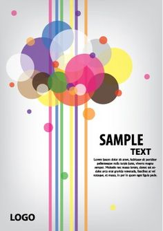 Abstract composition of circles and lines design card. A free vector graphic in Ai format for download