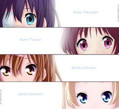 Rikka, Kumin, Nibutani, & Dekomori   Chuunibyou
