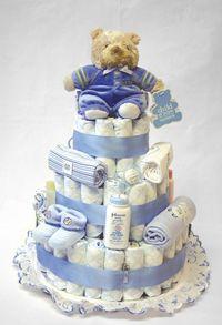 È vappena diventato genitore? Regala una meravigliosa torta di pannolini, bella e molto utile! #pannolini #regalo #diy #torta #faidate