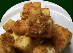 Crispy Italian Tofu Bites!  I've made/had these before and they are YUMMY.  I will make these again and again.