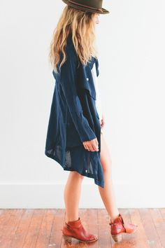 Navy Trench | ascot + hart  To go with lace jumpsuit or a romper